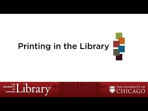 Printing in the Library