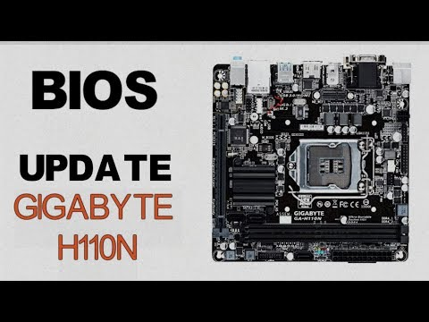 How to Update a Gigabyte Motherboard's Bios || H110n || Using a USB