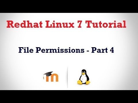 File Permissions in RHEl 7 in HINDI - Part 4 ( Owner and Group settings)
