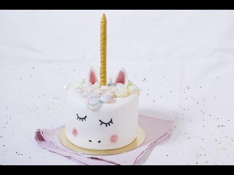 Gâteau Licorne en cake design