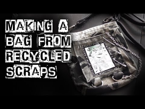 Recycling DIY - making a bag from scraps