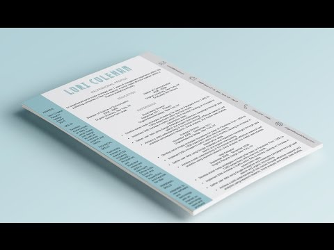 How to design a creative resume in Microsoft Word (download)