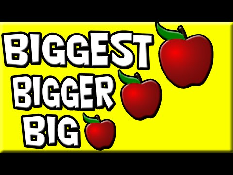 Big Bigger Biggest | Small Smaller Smallest | Size for Kids | Big and Small | Bigger and Smaller