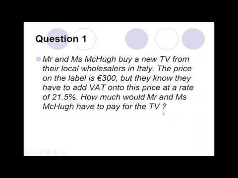 VAT Sales Tax, Discounts markup and percentages