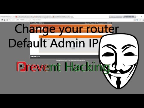 How to change d-link WiFi router default admin ip address