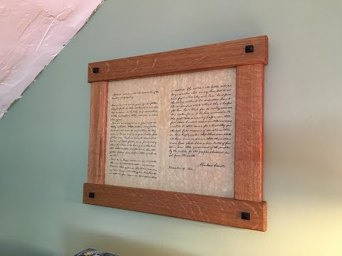 Build a simple Craftsman Picture Frame