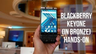 BlackBerry KEYone in bronze hands-on