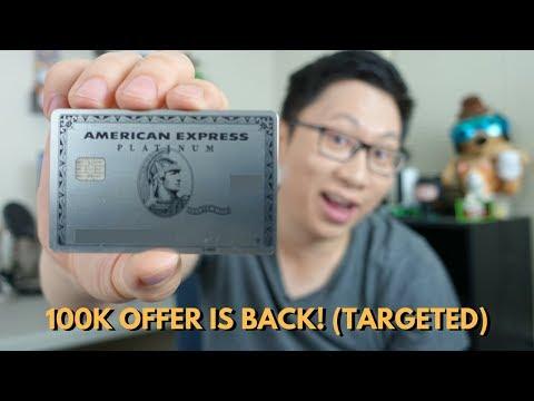 Targeted: Amex Platinum 100k Offer via CardMatch (Historic High)