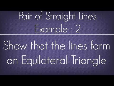 Pair Of Straight Lines Example - 2 l Maths Geometry