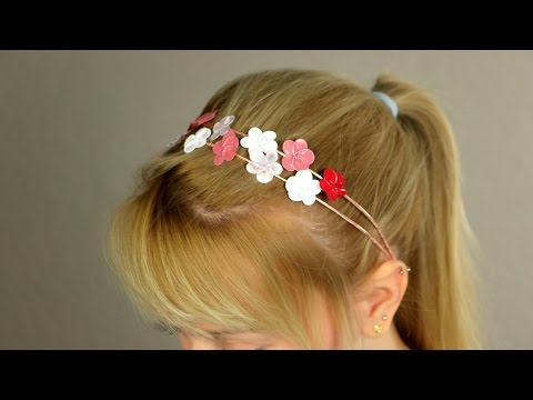 Use a wire and nail polish to make lovely, decorative hair clasps