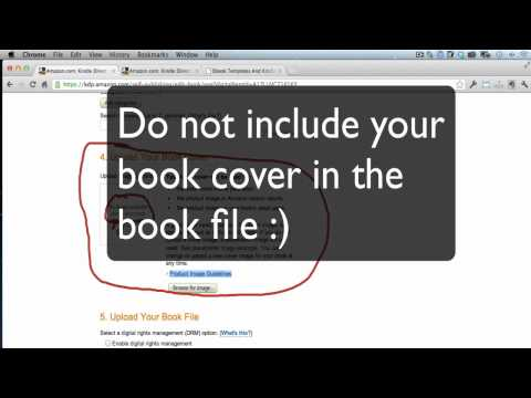 How & Where To Upload Your Kindle EBook Cover