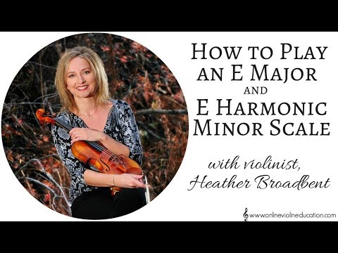 How to Play E Major and E Harmonic Minor Scale on the Violin