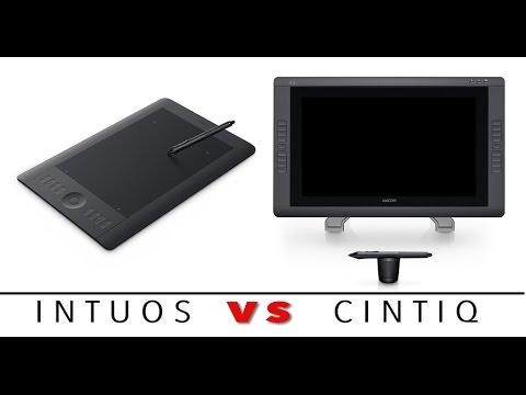 Wacom Intuos 5 Vs Cintiq 22HD Demonstration - Using Photoshop - Video