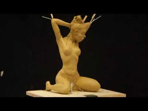 Sculpture clay figure time lapse Easy Like Sunday Morning