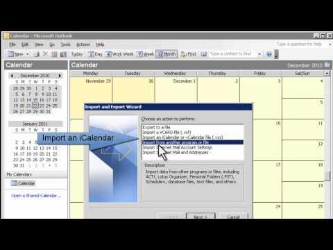 Add to Outlook 2003 Calendar