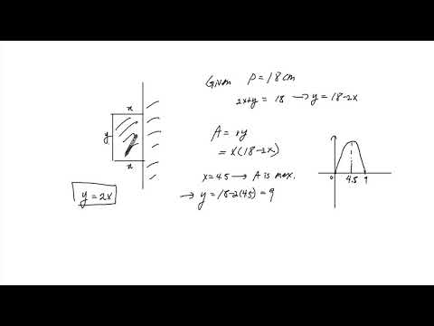 3  Finding Maximum Area of a Rectangle when One side is covered by a wall