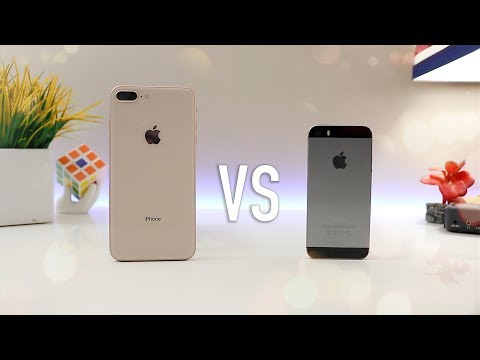 iPhone 8 Plus VS iPhone 5s iOS 11- Unboxing & Review 2018