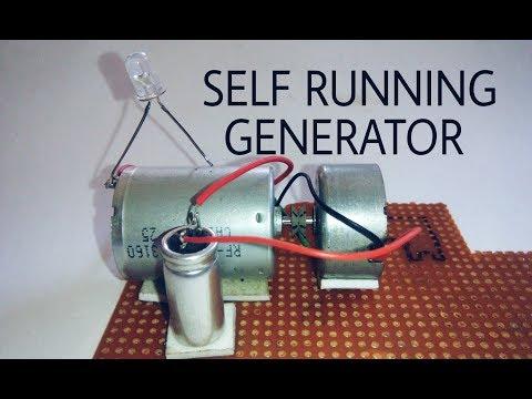Free energy self running generator using dc motor and capacitor.