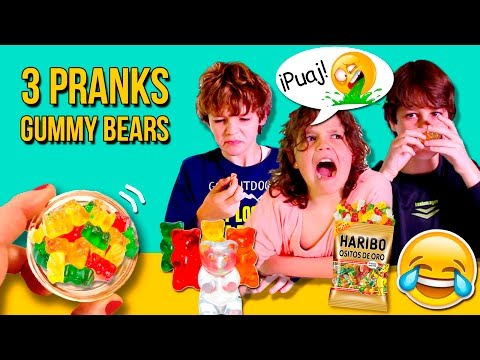 FOOD Prank with GUMMY BEARS 🐻 PRANKS with FOOD 😂  EASY Food Pranks for KIDS