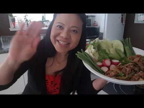 Asian Beef Salad (2 video on Larb Numtok)