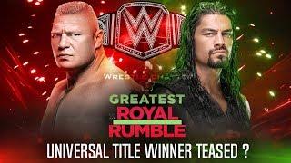 Roman Reigns Vs Brock Lesnar Steel Cage Match Greatest Royal Rumble Winner in Saudi Arabia !