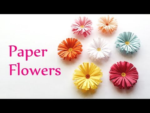 DIY How To Make | Awesome Paper Flowers Tutorial | Easy DIY Paper Flowers Pinterest