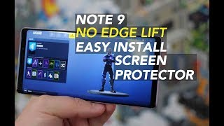 Galaxy Note 9 NO Edge Lift Screen Protector Install Ringke Dual Easy How to