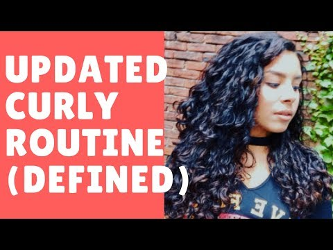 UPDATED Curl Routine | Defined Frizz free Curls | jiannajay