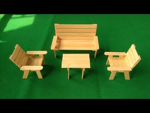 Popsicle stick Art Sofa and Chair set