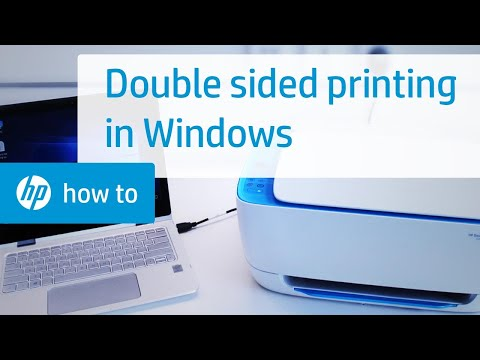 Two-Sided Printing on HP Printers from Windows