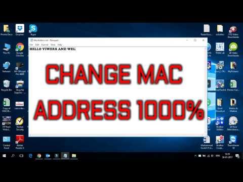 Change MAC Address 100% windows 10