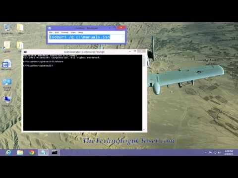 QS 161 Burn CD and DVD images from the Command Prompt Windows