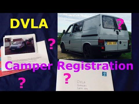 Camper van DVLA registration