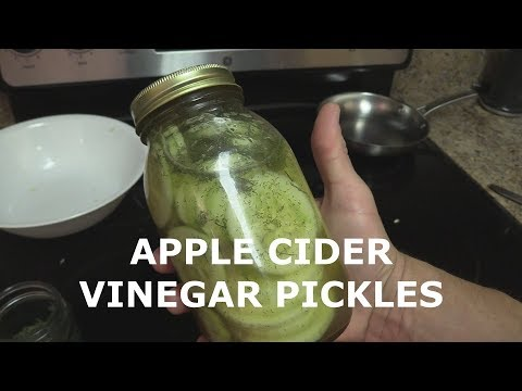 Making Apple Cider Vinegar Pickles