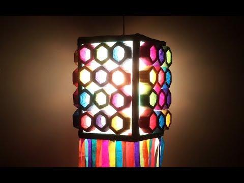 Diwali Lantern : Amazing Thermocol Lantern for this Diwali! Easy Paper Lantern Making | Paper Lamp