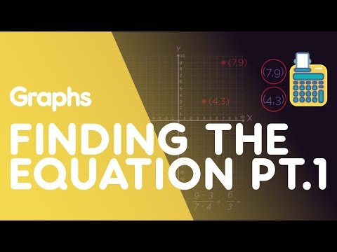 Finding the Equation of a Line Through 2 Points PART 1 | Graphs | Maths | FuseSchool
