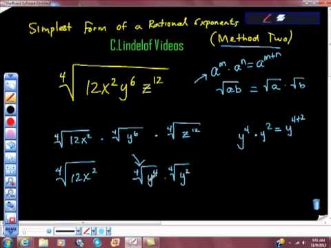 Simplest Form of a Rational Exponent Method Two