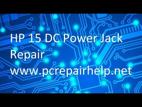 HP 15 AC DC Power Jack Repair (Broken Power Port)