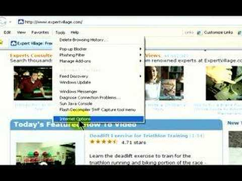 How To Use Microsoft Internet Explorer & Mozilla Firefox : Deleting Browsing History in Internet Explorer & Firefox