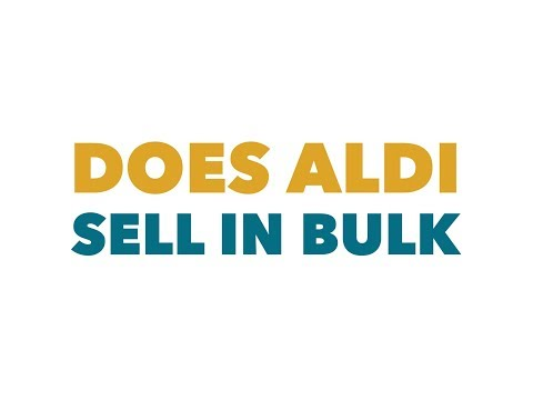 Does aldi sell in bulk or wholesale