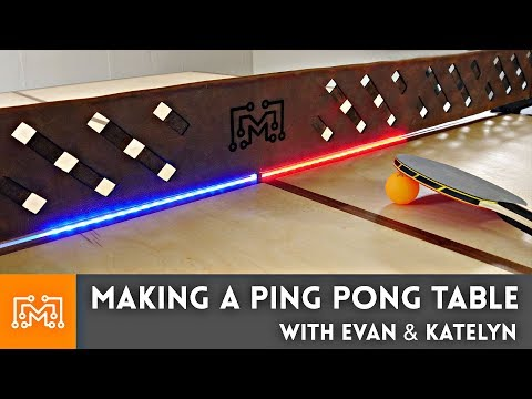 How to Make a Ping Pong Table // Collab with Evan & Katelyn