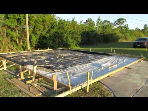 Garage slab form build 2 March 2015