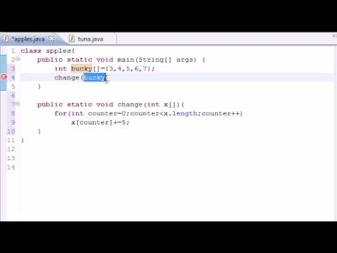 Java Programming Tutorial - 32 - Arrays in Methods