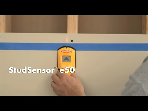 How to Use a Zircon StudSensor e50 Stud Finder to Find Wall Studs