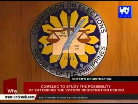 COMELEC to study the possibility of extending the voters registration period