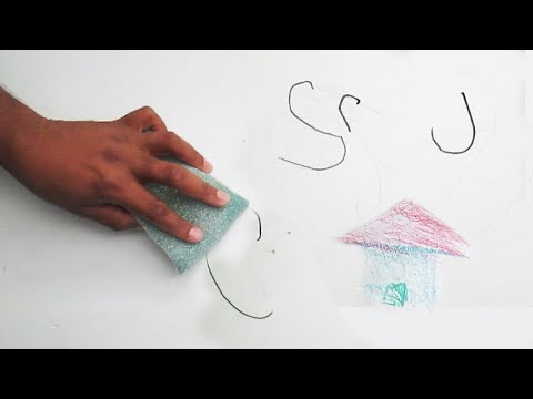 How to Remove all from Wall ( Crayons,Pencil,Pen,Permanent Marker)