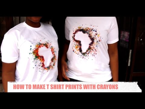 How To Make T shirt Prints with Crayons