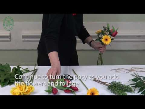 How to Make a Hand Tied Posy