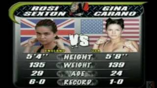 Gina Carano's second MMA fight Part 1