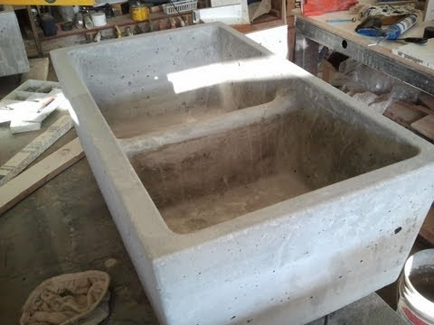 Concrete Farm Sink Double Kitchen Mold
